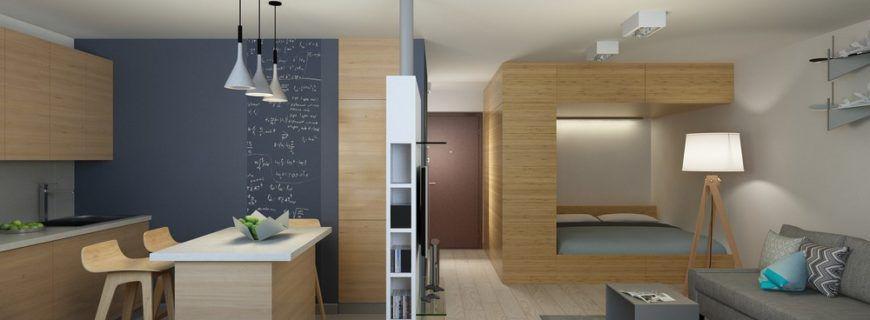 Как правильно зонировать однокомнатную квартиру