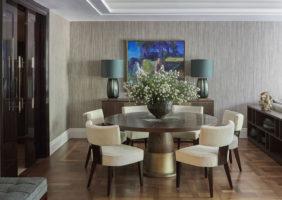 Дизайн проект дома в Шульгино стол в гостиной