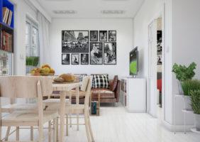 Дизайн проект интерьера квартиры студии