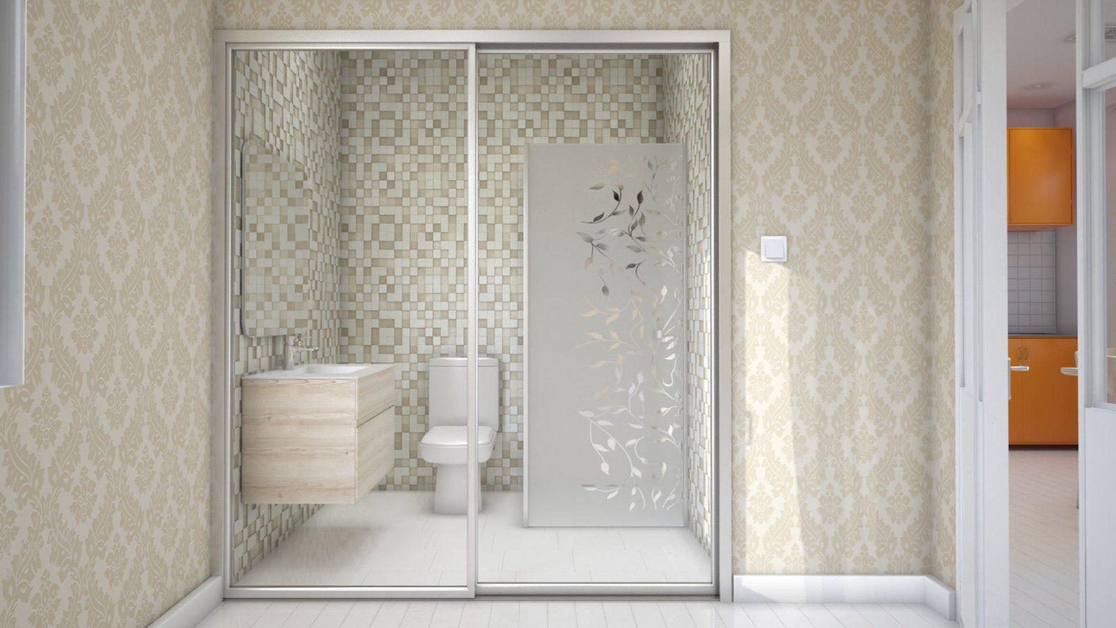 Дизайн проект санузла для квартиры студии: