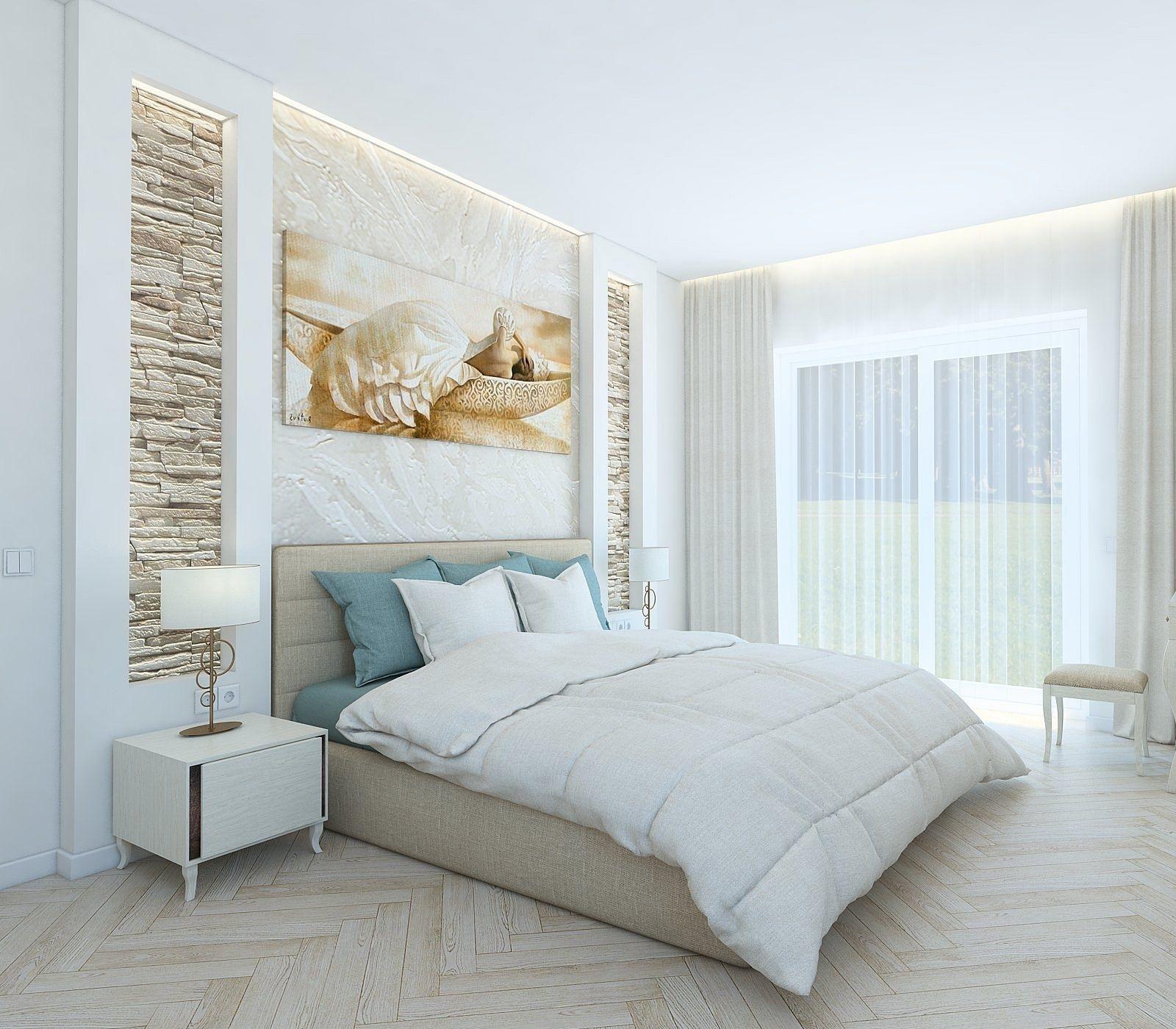 Кровать с расстояния