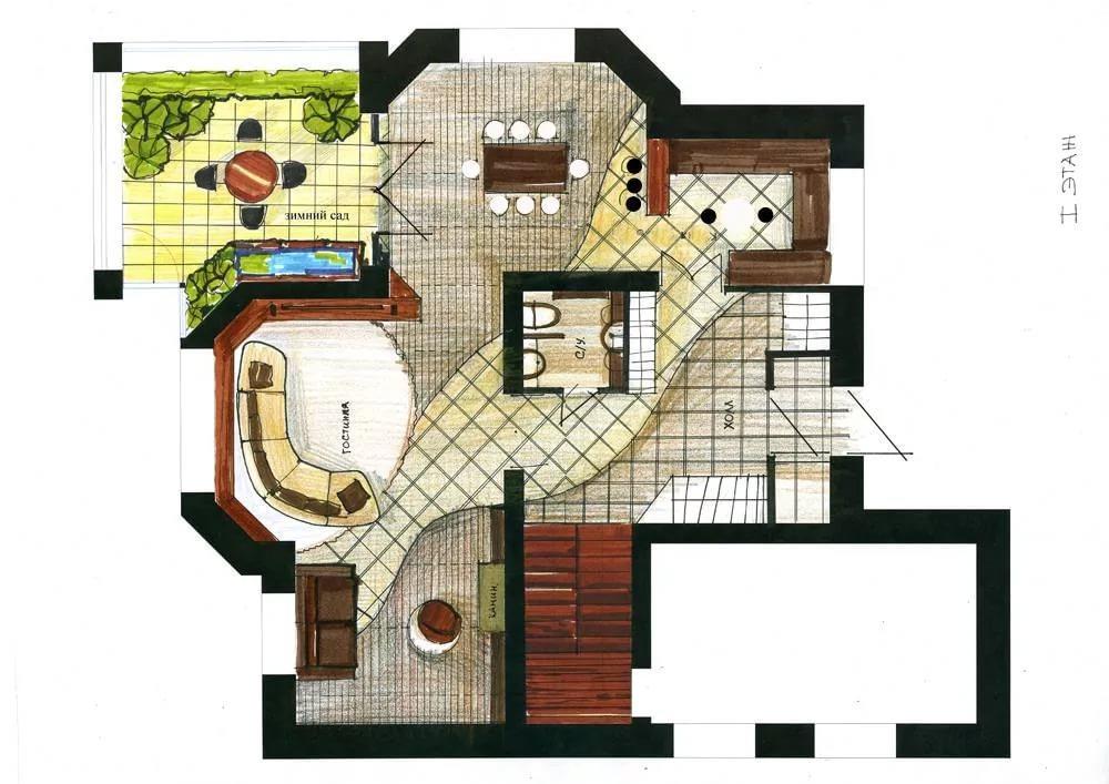 Примерный эскиз дизайн-проекта