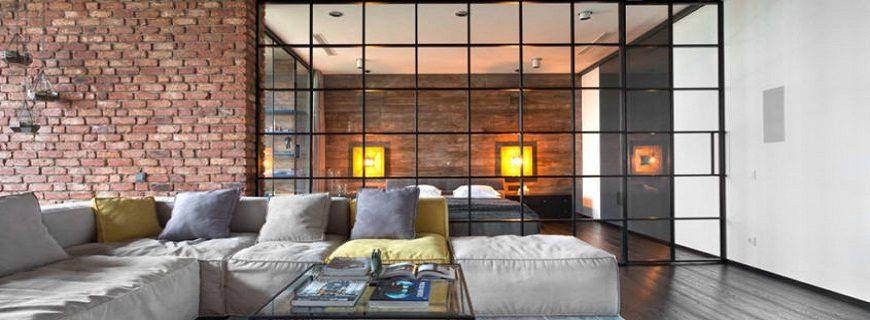 Межкомнатные перегородки в современном интерьере квартиры