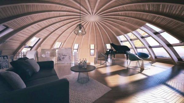 Оригинальная технология возведения купольных домов